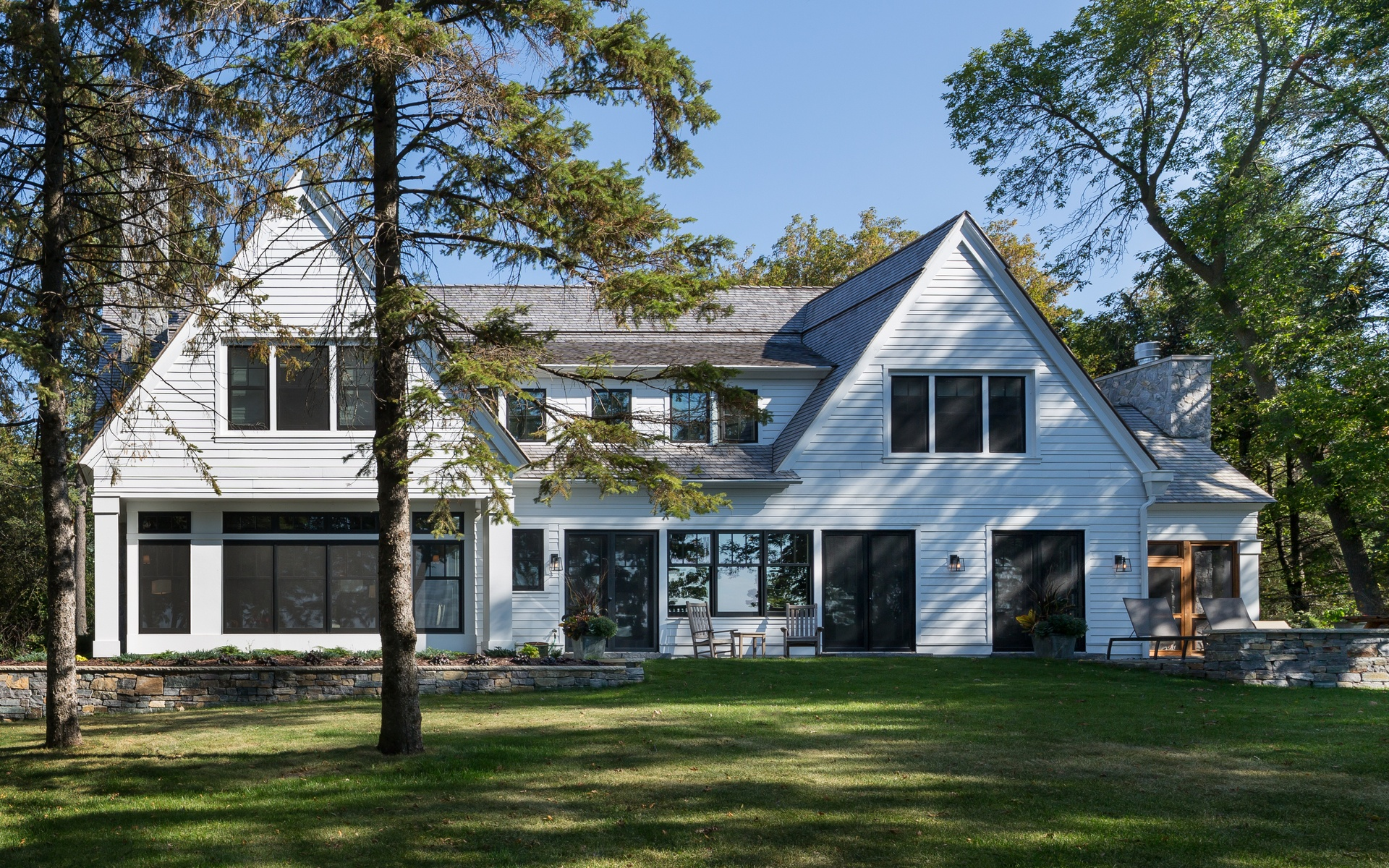 Lakeside Exterior | Urban Lake Cottage | White Bear Lake, MN| Hagstrom Builder
