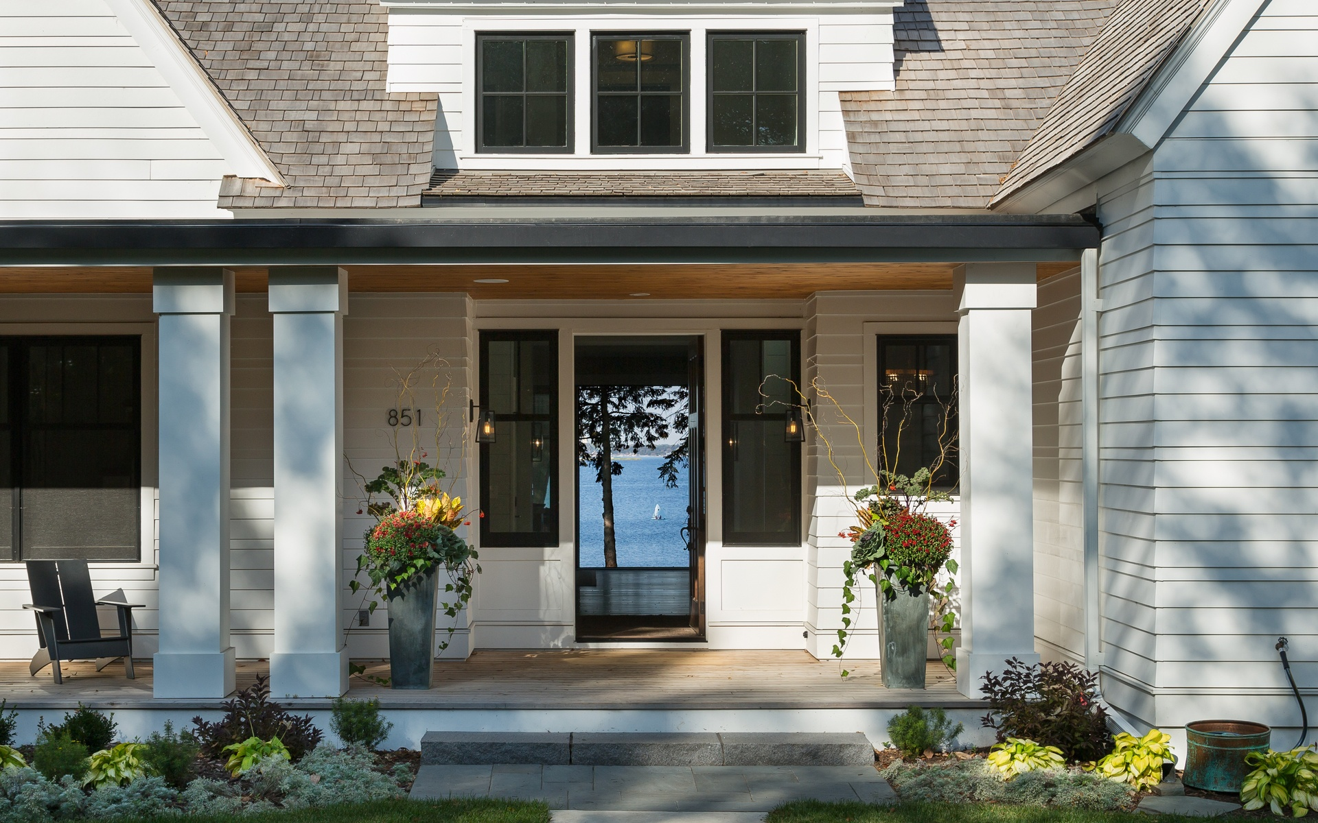 Front Entry | Urban Lake Cottage | White Bear Lake, MN| Hagstrom Builder