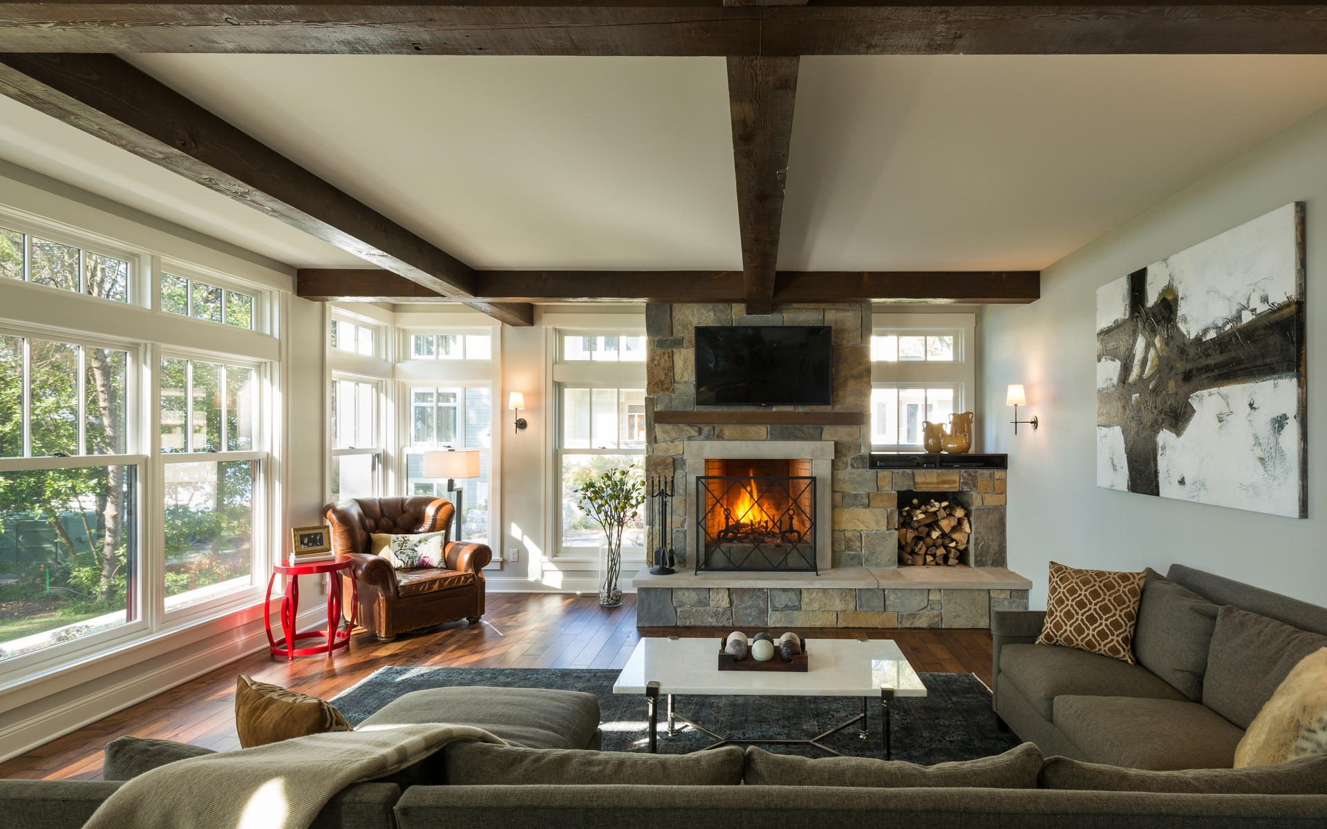 Living Area | Urban Lake Cottage | White Bear Lake, MN| Hagstrom Builder