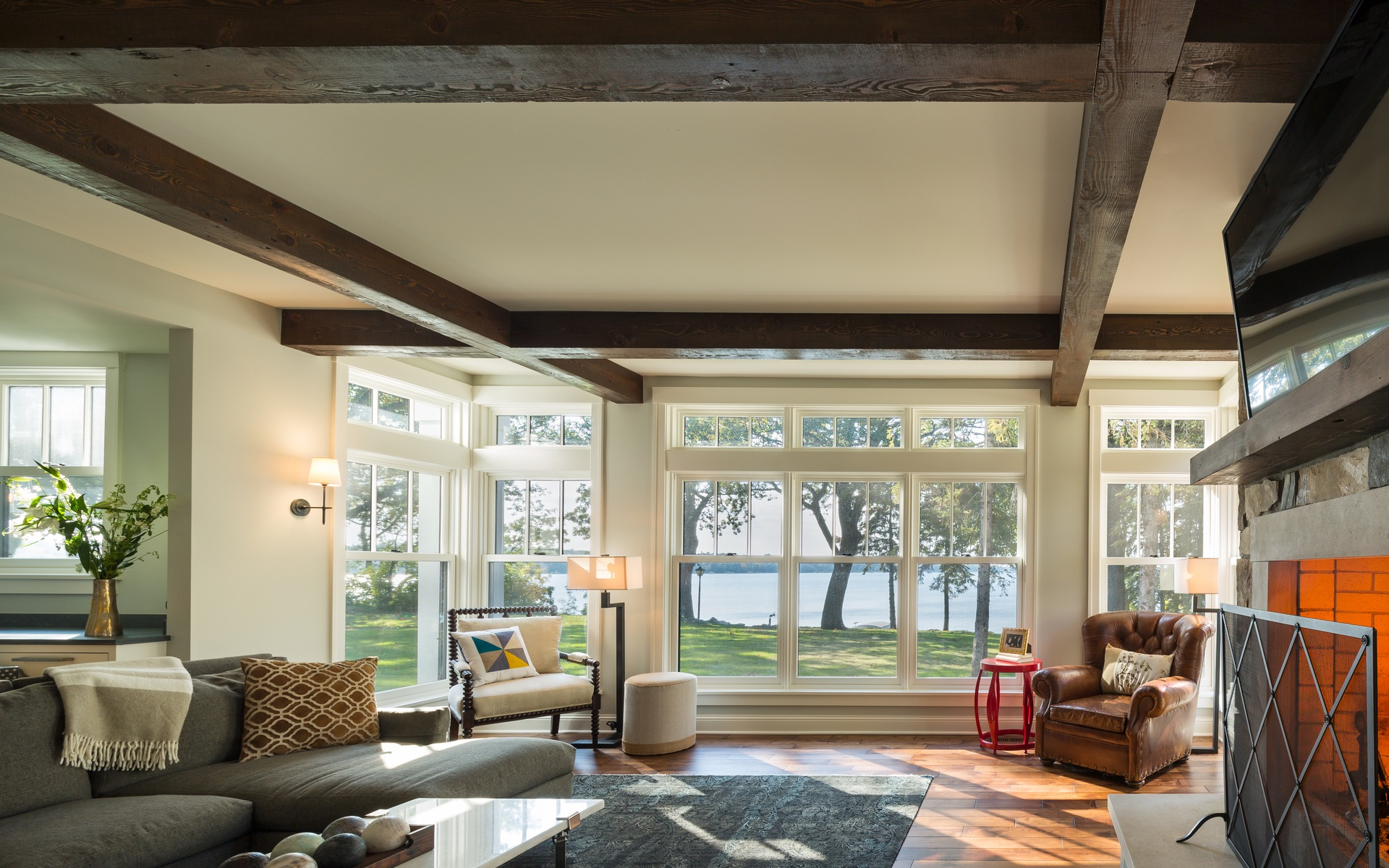 Living Room | Urban Lake Cottage | White Bear Lake, MN| Hagstrom Builder