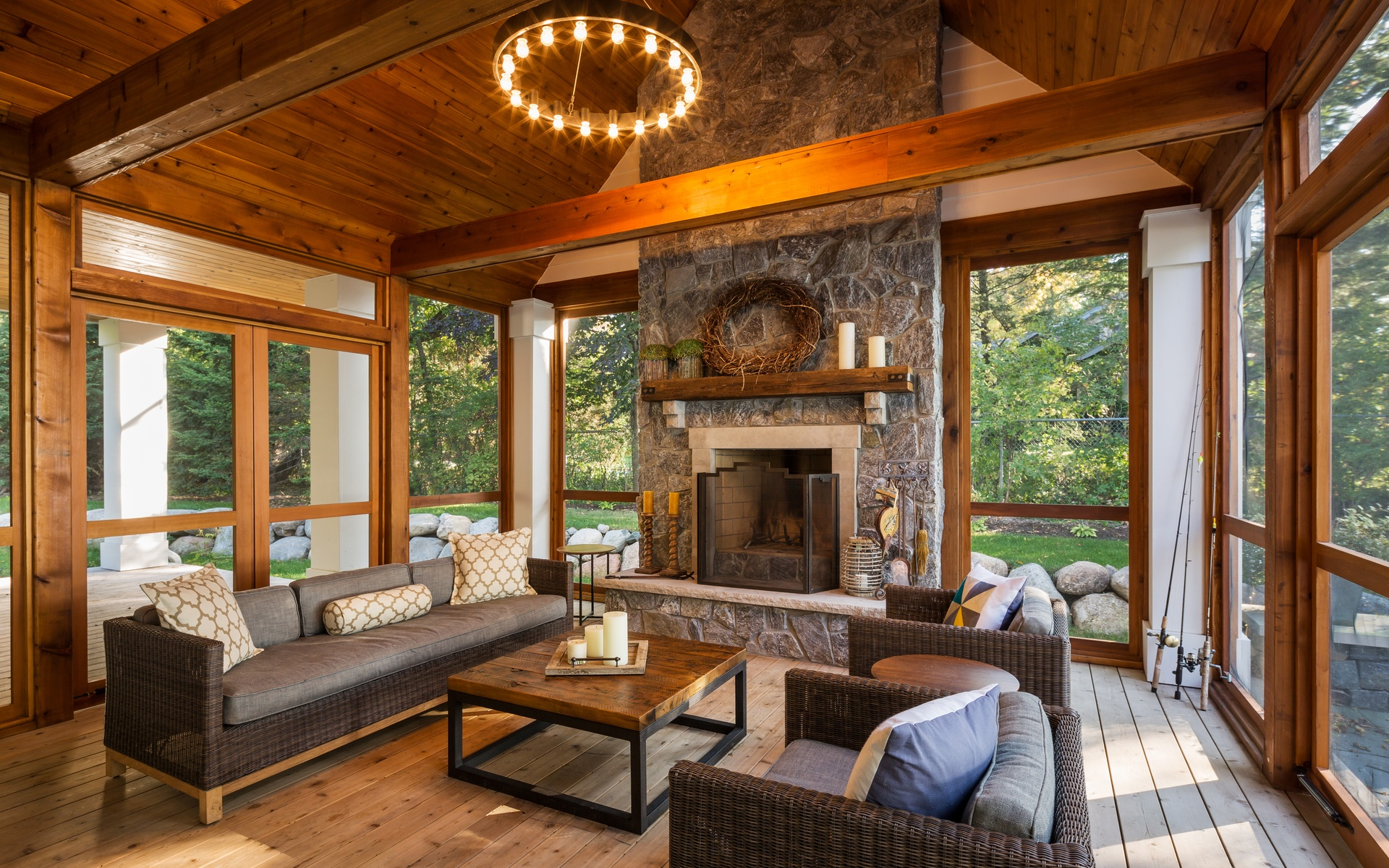 Screen Porch | Urban Lake Cottage | White Bear Lake, MN| Hagstrom Builder