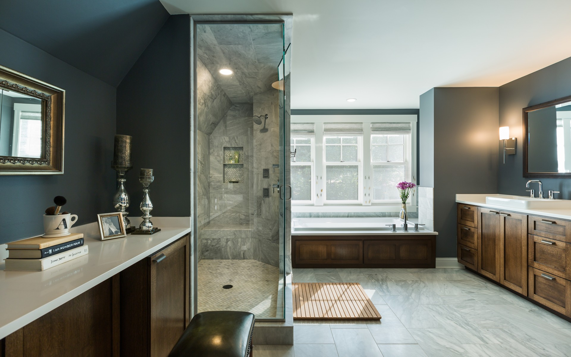 Master Bathroom | Urban Lake Cottage | White Bear Lake, MN| Hagstrom Builder